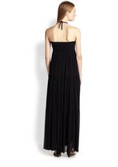 Jean Paul Gaultier Tiered Halter Maxi Dress