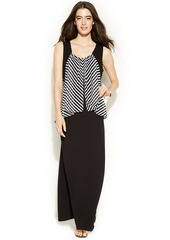 Alfani Striped Popover Maxi Dress