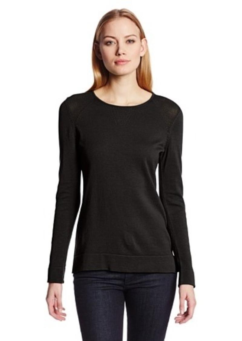 calvin klein calvin klein women 39 s mesh sweater sweaters. Black Bedroom Furniture Sets. Home Design Ideas