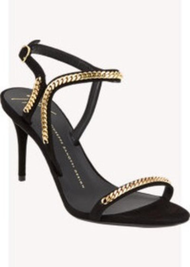 Giuseppe Zanotti Gold Chain Ankle-Strap Sandals