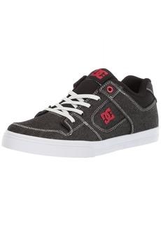 DC Boys' Pure Elastic TX SE Skate Shoe Black/RED/White