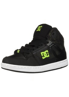 DC Boys' Pure HIGH-TOP SE Skate Shoe Black/CAMO  M US Little Kid