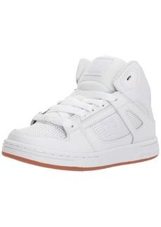 DC Boys' Pure HIGH-TOP Skate Shoe White/Gum  M US Little Kid