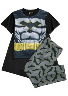 Dc Comics Batman 3-Pc. Dark Crusader Caped Pajama Set, Little Boys & Big Boys
