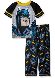 DC Comics Boys' Big Batman 2 Piece Pajama Set face