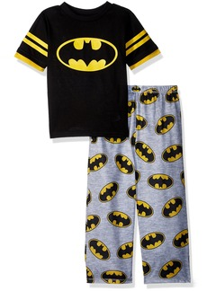 DC Comics Big Boys' Batman Logo 2 Piece Pajama Set