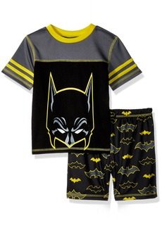 DC Comics Big Boys' Batman Mesh 2 Piece Short Pajama Set