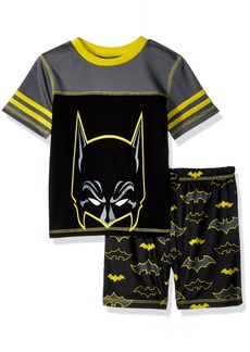 DC Comics Boys' Big Batman Mesh 2 Piece Short Pajama Set