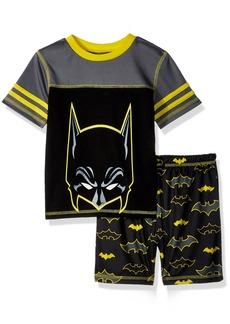 DC Comics Big Boys' Batman Mesh 2 Piece Short Pajama Set  XSmall