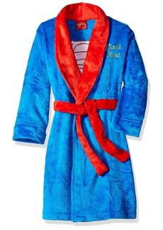 DC Comics Big Boys' Clark Kent Velvet Fleece Robe