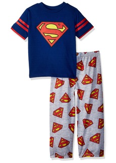 DC Comics Big Boys' Superman Logo 2 Piece Pajama Set  XSmall