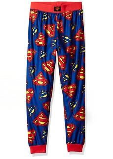 DC Comics Big Boys' Superman Logo Jogger Lounge Pant