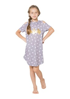 DC Comics Big Girls' Batgirl Cold Shoulder Star Nightgown