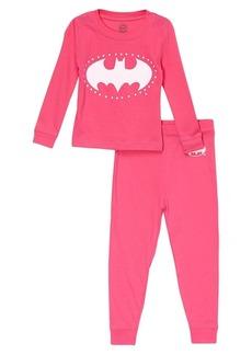 DC Comics Big Girls' Batgirl Long Sleeve Cotton Pajama Set