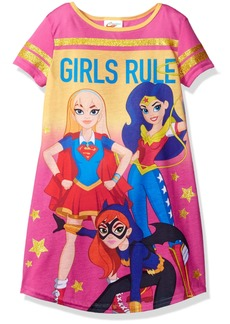 DC Comics Big Girls' DC Super Heroes Short Sleeve Nightgown PJ  10/12