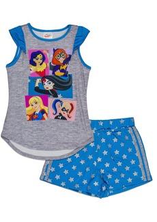 DC Comics Big Girls' Super Hero 2-Piece Pajama Short Set  7/8