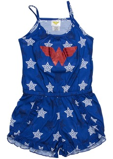 DC Comics Big Girls' Wonder Woman Logo Romper Pajama  7/8