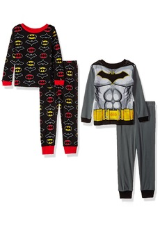 DC Comics Boys' Big Batman 4-Piece Cotton Pajama Set