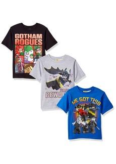 DC Comics Boys' Big Batman Lego 3 Pack Tee's  10/12
