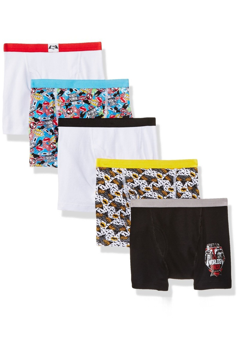 DC Comics Big Boys' Dawn of Justice 5pk Boxer Briefs
