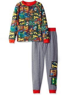 DC Comics Big Boys' Justice League 2pc Sleepwear Set Grey