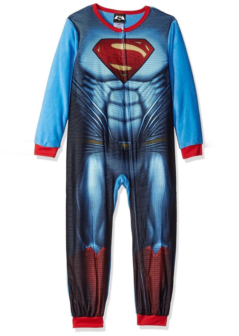 DC Comics Big Boys' Superman Blanket Sleeper with Cape