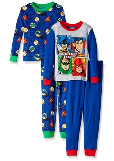 DC Comics Boys' Justice League -Pc PJ incl. 2 Sets Long Sleeve and Pant