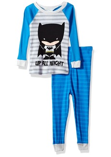 DC Comics Boys' Little Justice League 2-pc Pajama Set Long Sleeve with Pant