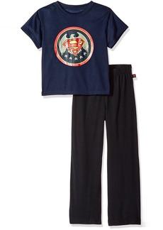 DC Comics Boys 'Superman Superhero Vintage' Pajama Set Black 6/7