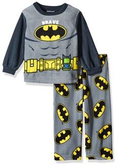 DC Comics Boys' Toddler Boys' Batman 2-Piece Fleece Pajama Set