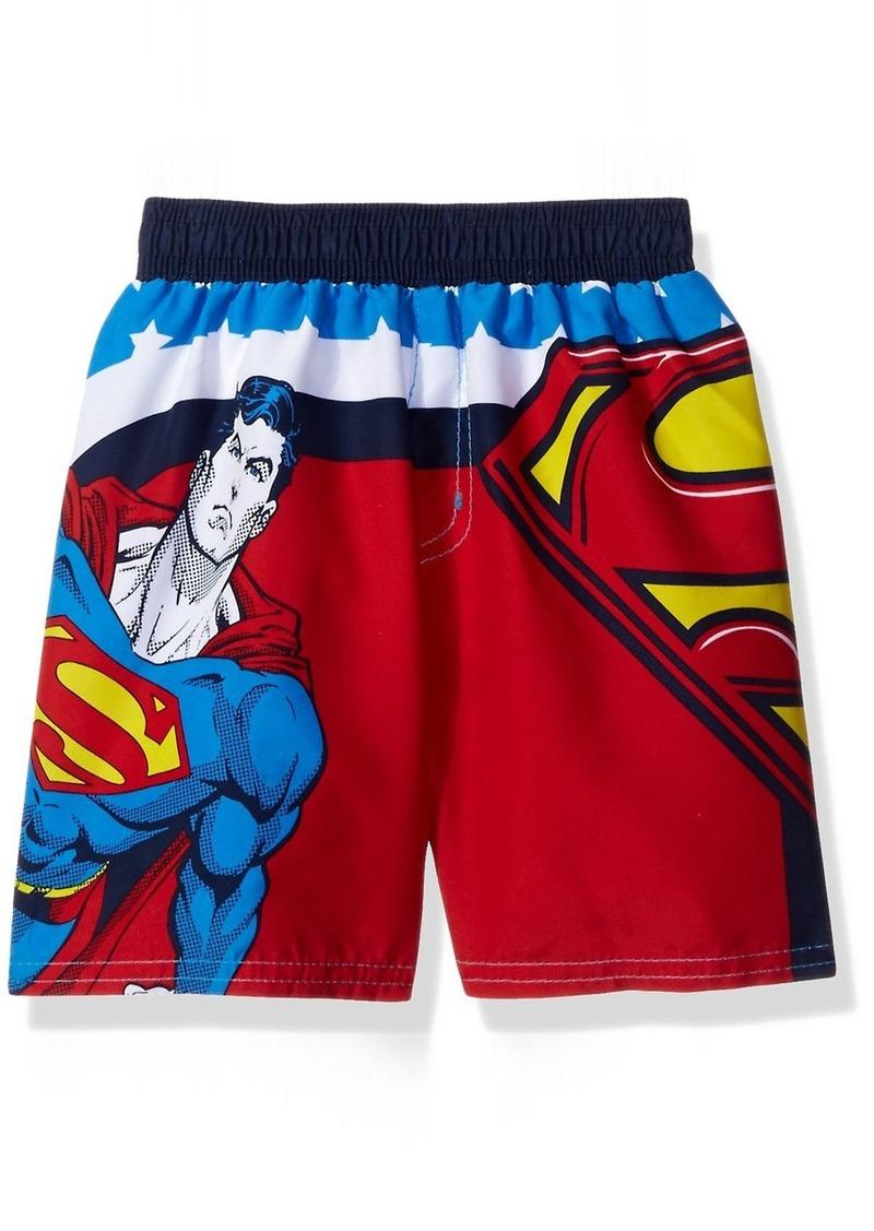 DC Comics Boys' Toddler Boys' Superman Swim Trunk with Upf Protection