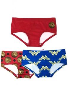 DC Comics Girls' Little 3-Pack Wonder Woman Seamless Hipster Underwear Multi M