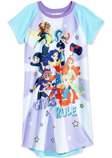 Dc Comics Girls Rule Superheroes Nightgown, Little & Big Girls