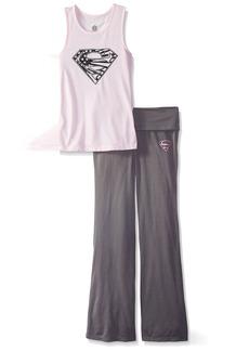 DC Comics Girls 'Superman Supergirl Americana' Yoga Pajama Set   10/12
