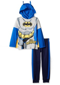 DC Comics Little Boys' 2 Piece Batman Hoodie Set With Mask