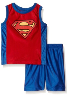 DC Comics Little Boys' 2 Piece Superman Dazzle Short Set