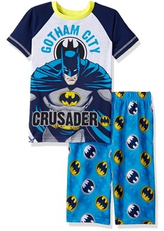 DC Comics Little Boys' 2pc Set Sleeve Shirt and Pajama Short  4/5