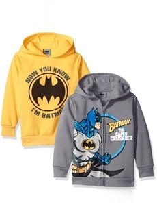DC Comics Little Boys' Batman 2 Pack Hoodies Grey