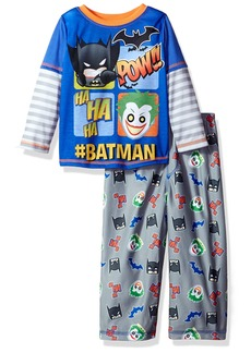DC Comics Little Boys' Batman Superhero 2-Pc Pajama Set Long Sleeve Top With Pant