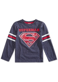 Dc Comics Little Boys Superman Varsity T-Shirt