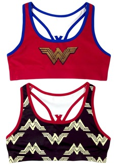 DC Comics Little Girls' 2-Pack Wonder Woman Seamless Bra  S