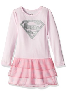 DC Comics Little Girls' 3 Tier Supergirl Nightgown (Toddler/Kid) -  -