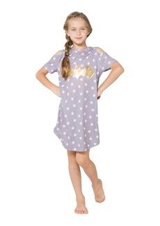 DC Comics Girls' Little Batgirl Cold Shoulder Star Nightgown  6/6X