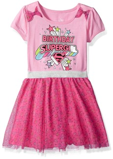 DC Comics Girls' Little Supergirl Birthday Dress
