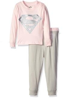 DC Comics Supergirl 2 Piece Tight Fit Cotton Pajama Set