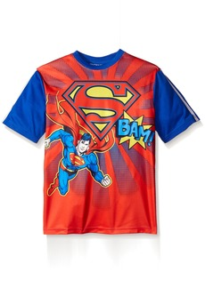 DC Comics Superman Little Boys' Short Sleeve Raglan T-Shirt Shirt