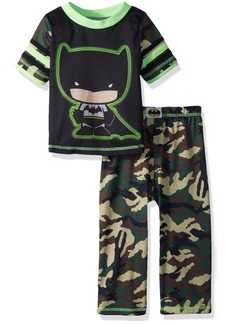DC Comics Toddler Boys' Batman Camo 2 Piece Pajama Set