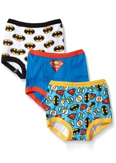 DC Comics Toddler Boys' Justice League 3 Pack Training Pant JL Assorted Patterns