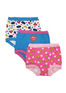 DC Comics Toddler Girls' Justice League 3 Pack Training Pant