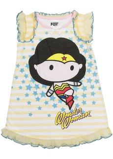DC Comics Toddler Girls' Justice League Chibis Wonder Woman Pajama Dress